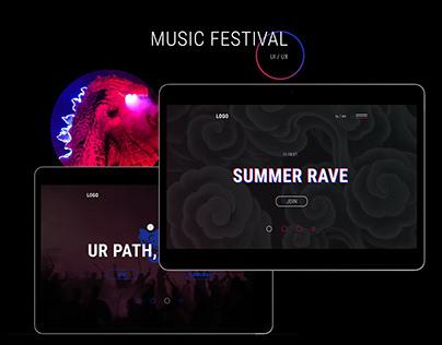 Summer rave UI/UX