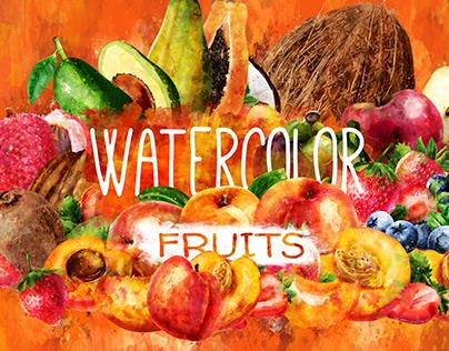 Watercolor Fruits