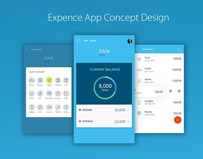 Expence App concept design
