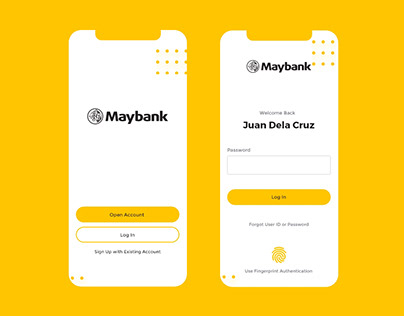 Maybank Philippines - Mobile App Redesign