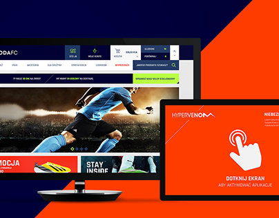 ZgodaFC - Online shop and touch screen app design