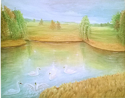 The swan lake.