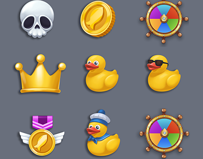 icons set for Trawler mobile game