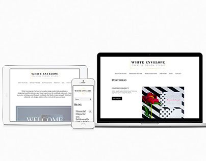 Responsive Web Design for Wedding & Event Design Studio