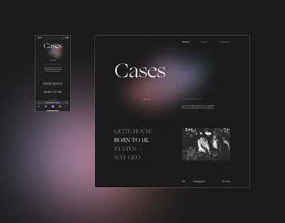 Personal UI/UX Designer Portfolio Website