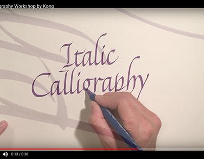 Italic calligraphy workshop