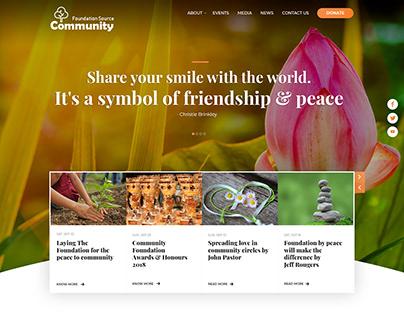 Foundation Source Community Web UI Design