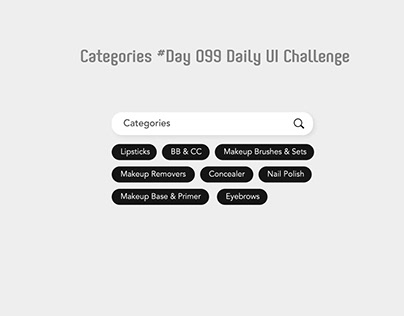 Day 099 - Categories - Daily UI challenge