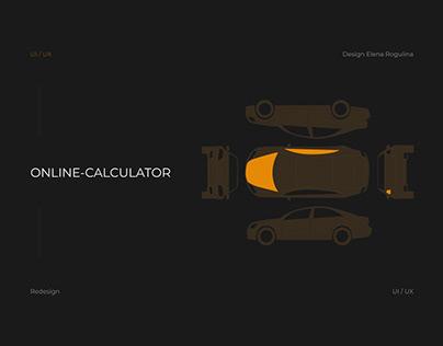 Redesign online calculator