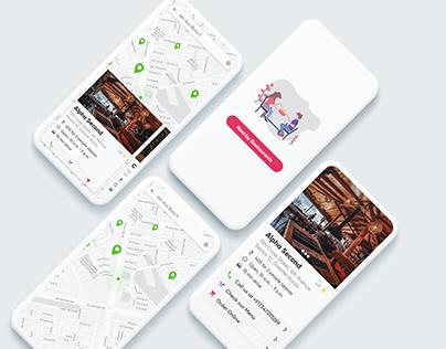 Nearby Restaurants Mobile App UI
