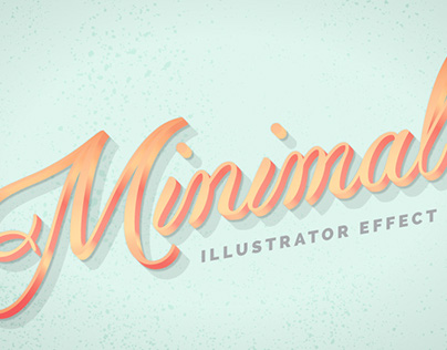 Instant Minimal Metal Effect for Adobe Illustrator