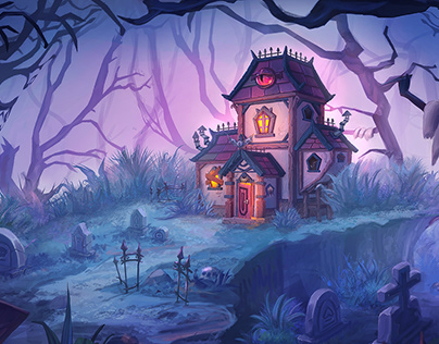Haunted house - Environment concept art