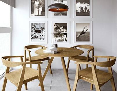 Long kitchen design