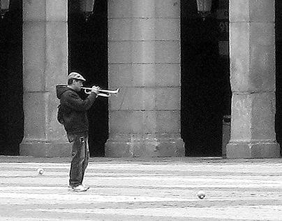 Trompetista in Plaza Mayor