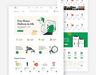 Grocery Delivery landing page