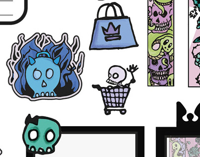 GOTHIC STICKERS PACK