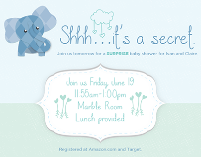 Baby Shower Invite Design