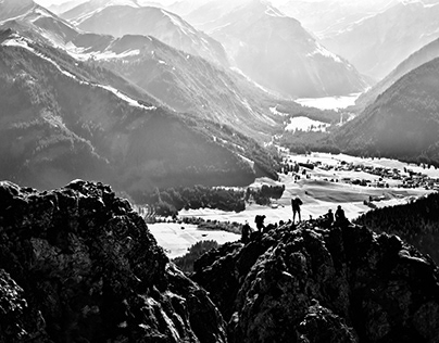 Mountains BW