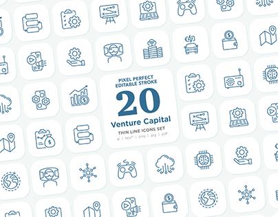 Venture Capital | Pixel Perfect & Editable Stroke Icons