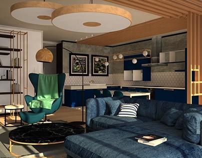 Интерьер квартиры для молодой пары
