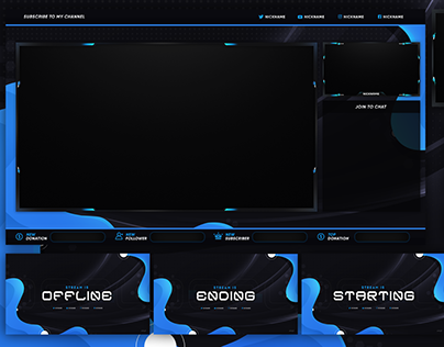 DOWNLOAD BEST FREE STREAM OVERLAY TEMPLATE 2020