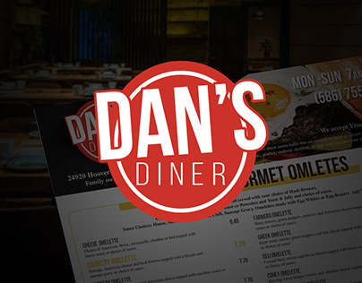 Dan's Diner Menu Redesign