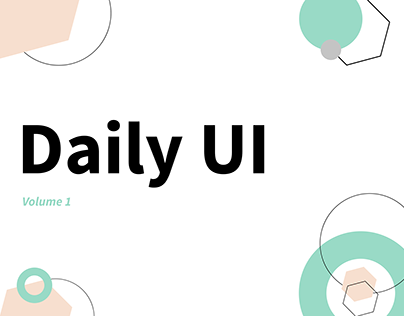 Daily UI Challenge | Volume 1