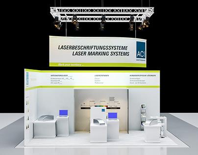 3D Concept Design - Exhibition booth for ACI Laser.