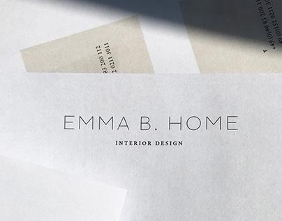 Branding for Emma B. Home – Interior Design Agency