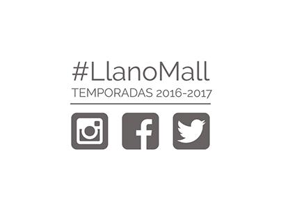 Desarrollo gráfico RRSS Llano Mall Ciudad Comercial