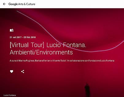 "Virtual Tour Lucio Fontana ""Ambienti/Environments."