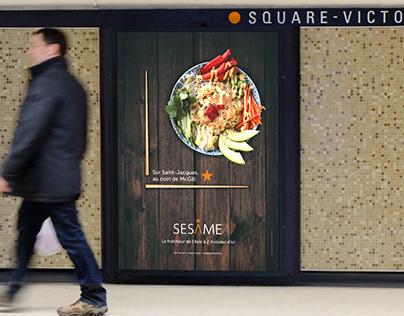 Restaurant Sésame - Publicité directionnelle