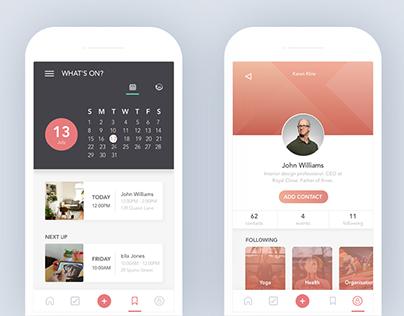 Actio – App UI design