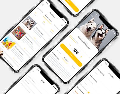 Ziedot.lv - charity donation app