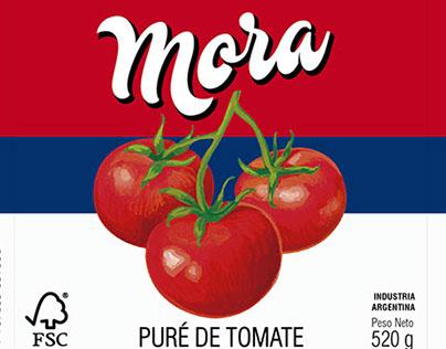 PACKAGING/ Puré de tomate Mora