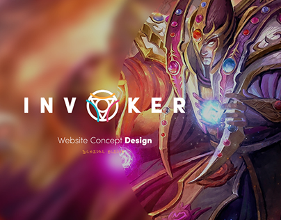 Invoker Dota 2 Website Design Concept