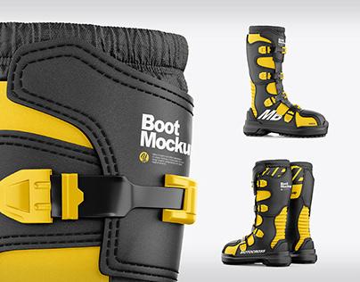 Motocross Boot Mockups