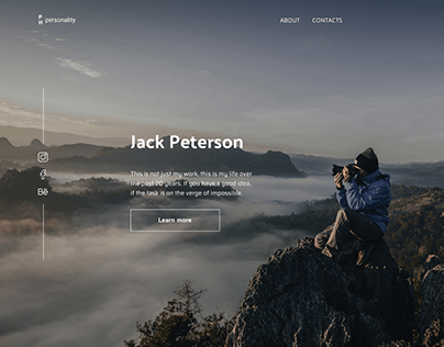 Landing page photography