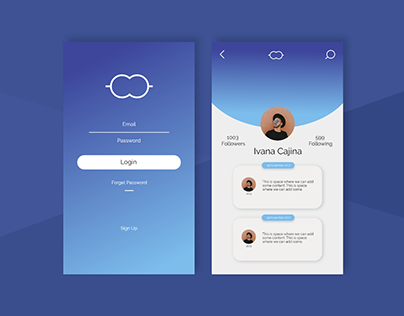 Daily UI Challenge #5 Sign In and Profile