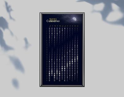 Calendrier lunaire et cartes postales