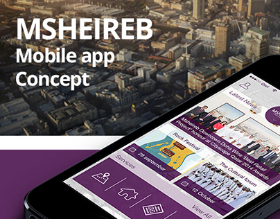 Msheireb Mobile application concept