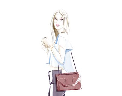 Summer Style Fashion Illustrations