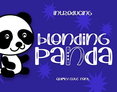 Blonding Panda Playful Font