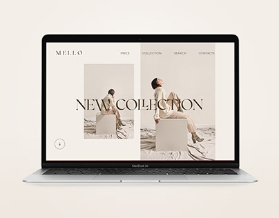 landing page for a clothing store