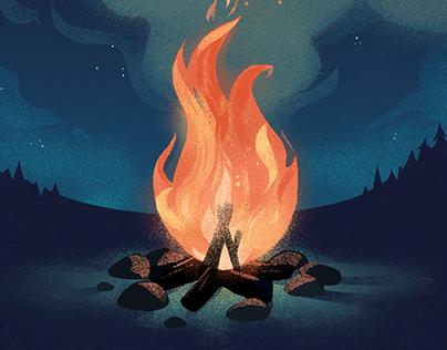 Chaleur de feu de camp