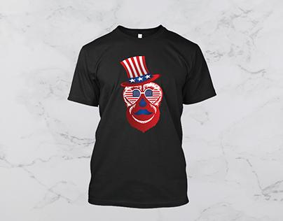 American flag monkey t shirt
