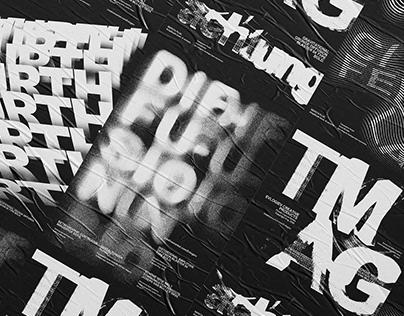 Typographic poster templates