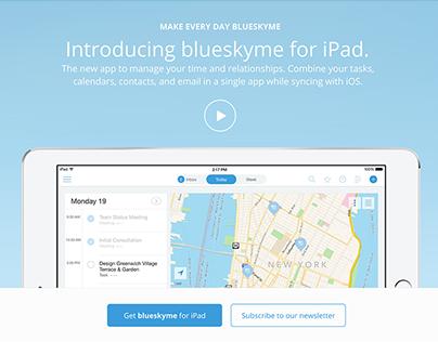 blueskyme landing page