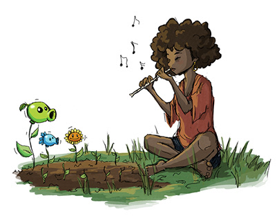 Plants vs Zombies inspired art