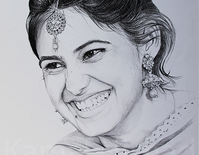 Beautiful Smile -Portrait Sketch by Artist Kamal Nishad